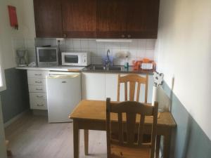Ett kök eller pentry på Brunnsta Gård