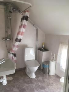 Ett badrum på Brunnsta Gård