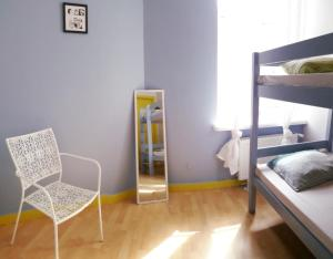 A bunk bed or bunk beds in a room at Riga Hostel Centre