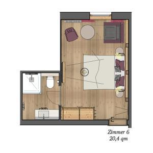 The floor plan of Hottererhof