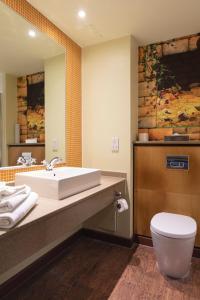 A bathroom at Chessington Hotel