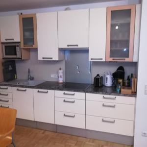 Küche/Küchenzeile in der Unterkunft Garten Apartment Mirabell