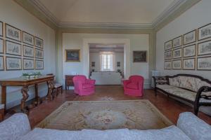 Area soggiorno di Wonderful Villa in Umbria