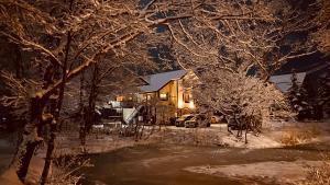 冬のBANDAI LAKESIDE GUESTHOUSEの様子