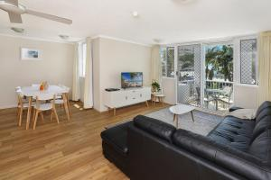 A seating area at The Bay Apartments Coolangatta