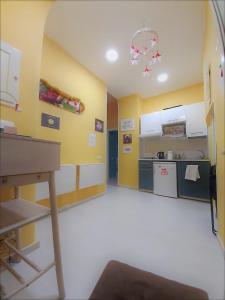 Cuisine ou kitchenette dans l'établissement 'A Funtanella