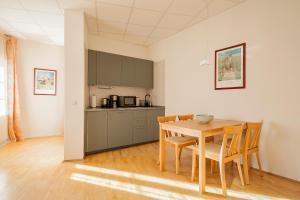 Küche/Küchenzeile in der Unterkunft Haus Repin