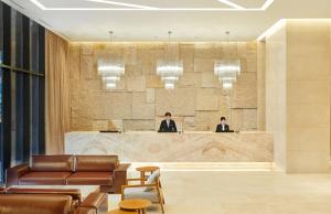 The lobby or reception area at Somerset Central Bundang