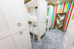 A bunk bed or bunk beds in a room at My Hostel Almaty
