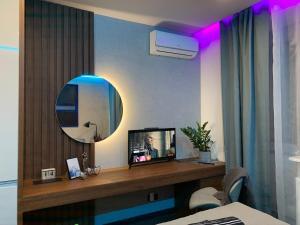 TV a/nebo společenská místnost v ubytování #7A WorkTravel Central MiniApart
