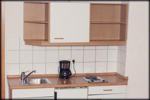 Küche/Küchenzeile in der Unterkunft Hotel in