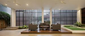The lobby or reception area at Sakura Terrace