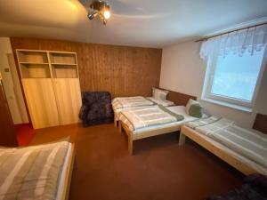 Postel nebo postele na pokoji v ubytování Chata Junior