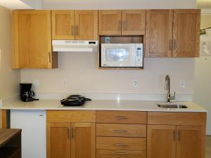 A kitchen or kitchenette at Sun Peaks Lodge