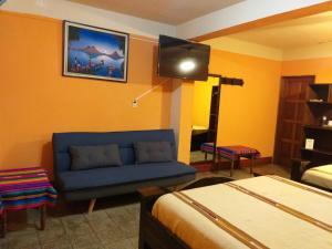 TV/Unterhaltungsangebot in der Unterkunft Hospedaje El Viajero