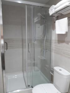 A bathroom at Hotel Goya