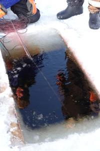 Kierinki Village Lomahuoneisto talvella