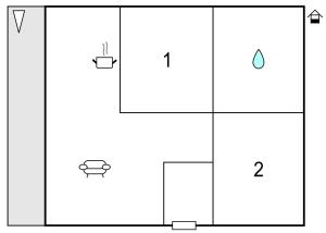 Grundriss der Unterkunft Two-Bedroom Holiday Home in Heidmuhlen OT Klint