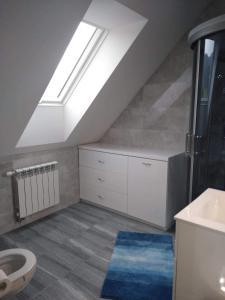 A bathroom at Domek u Weroniki