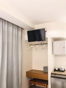 TV/Unterhaltungsangebot in der Unterkunft Omiros