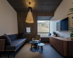 A seating area at Fosshotel Glacier Lagoon