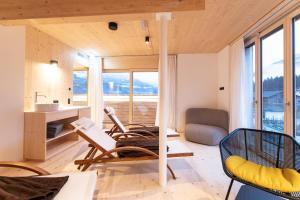 Ein Sitzbereich in der Unterkunft Mari Pop Boutique Hotel