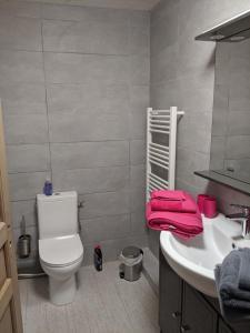 A bathroom at Les jardins de la mer