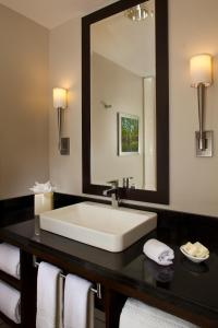 A bathroom at Courtyard by Marriott New Orleans French Quarter/Iberville