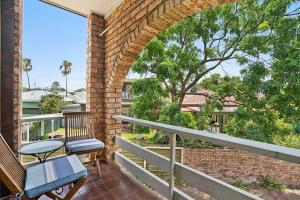 A balcony or terrace at Newcastle Short Stay Accommodation - Centennial Terrace Apartments