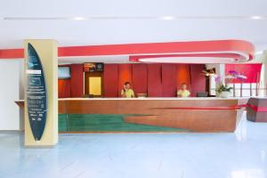 The lobby or reception area at Ibis Styles Bali Legian