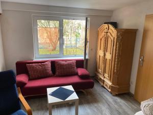 Ein Sitzbereich in der Unterkunft möbl. Apartment Nürnberg
