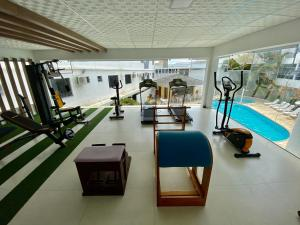 The fitness center and/or fitness facilities at Scaini Palace Hotel