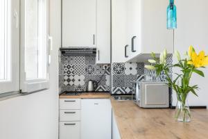 A kitchen or kitchenette at Aldo apartment