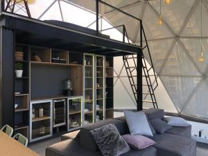 A seating area at Bird Glamping