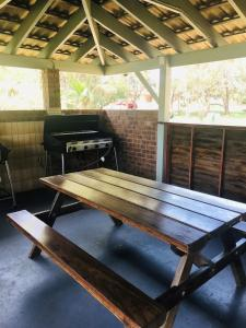 BBQ facilities available to guests at the resort village