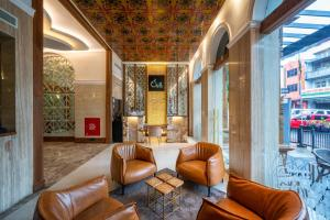 The lobby or reception area at The Radh Hotel