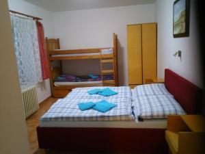 A bunk bed or bunk beds in a room at Penzion Aqua