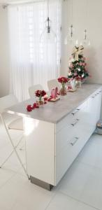 A kitchen or kitchenette at Aereomar Boutique Apartment