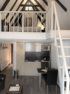 A kitchen or kitchenette at Hotel De Vischpoorte, aan de IJssel en hartje Deventer, hotelkamers en appartementen met keukens