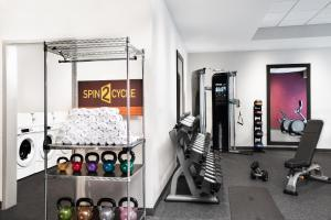 The fitness center and/or fitness facilities at Home2 Suites by Hilton Long Island Brookhaven