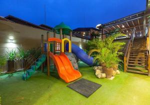 Children's play area at Pousada Castellammare