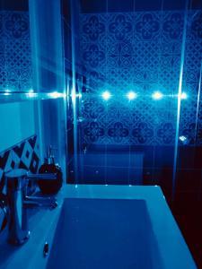 Salle de bains dans l'établissement Le 3 fuscien