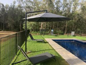 The swimming pool at or near The Woods at Pokolbin