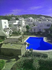 A view of the pool at Ornos Suite or nearby