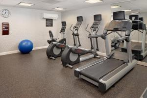The fitness center and/or fitness facilities at Residence Inn Boston Dedham