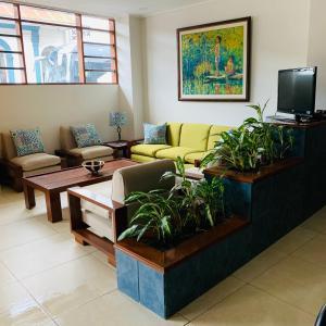 Zona de estar de Hotel Acosta