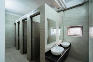 Phòng tắm tại Ha Giang Hostel