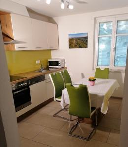 Küche/Küchenzeile in der Unterkunft Apartments Haus Morgensonne