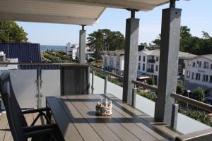 A balcony or terrace at Kiekut