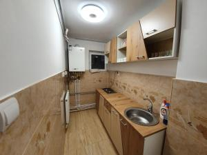 A kitchen or kitchenette at Apartament Delia LUX